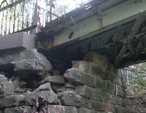 Crumbling Abutment (photo by author)