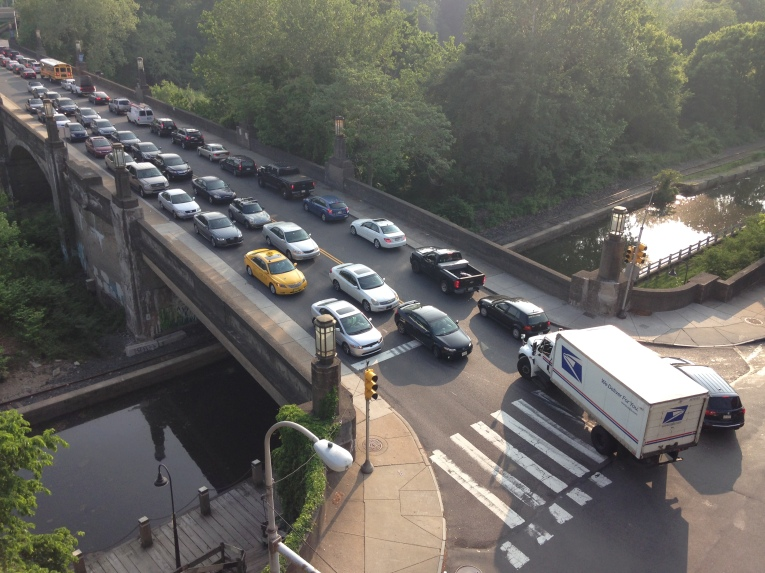 Car dependency is anti-democratic.  Proof? Traffic would have prevented me from making it to the polling place, had biking on the Schuylkill River Trail not been an option.