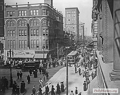 12th and Market Streets, Philadelphia, in 1894 (Image credit: PhillyHistory.org)
