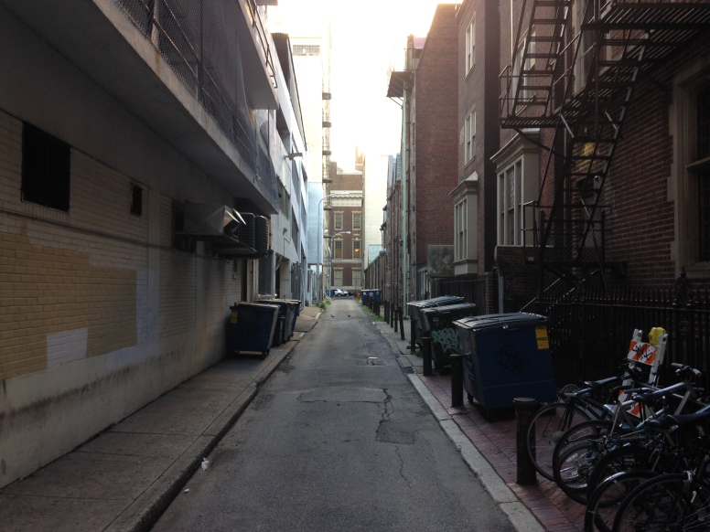 An alley, Philadelphia (photo by author)